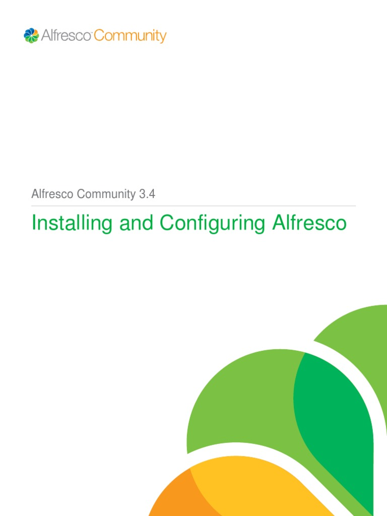 Installation Alfresco 34 - DocShare tips