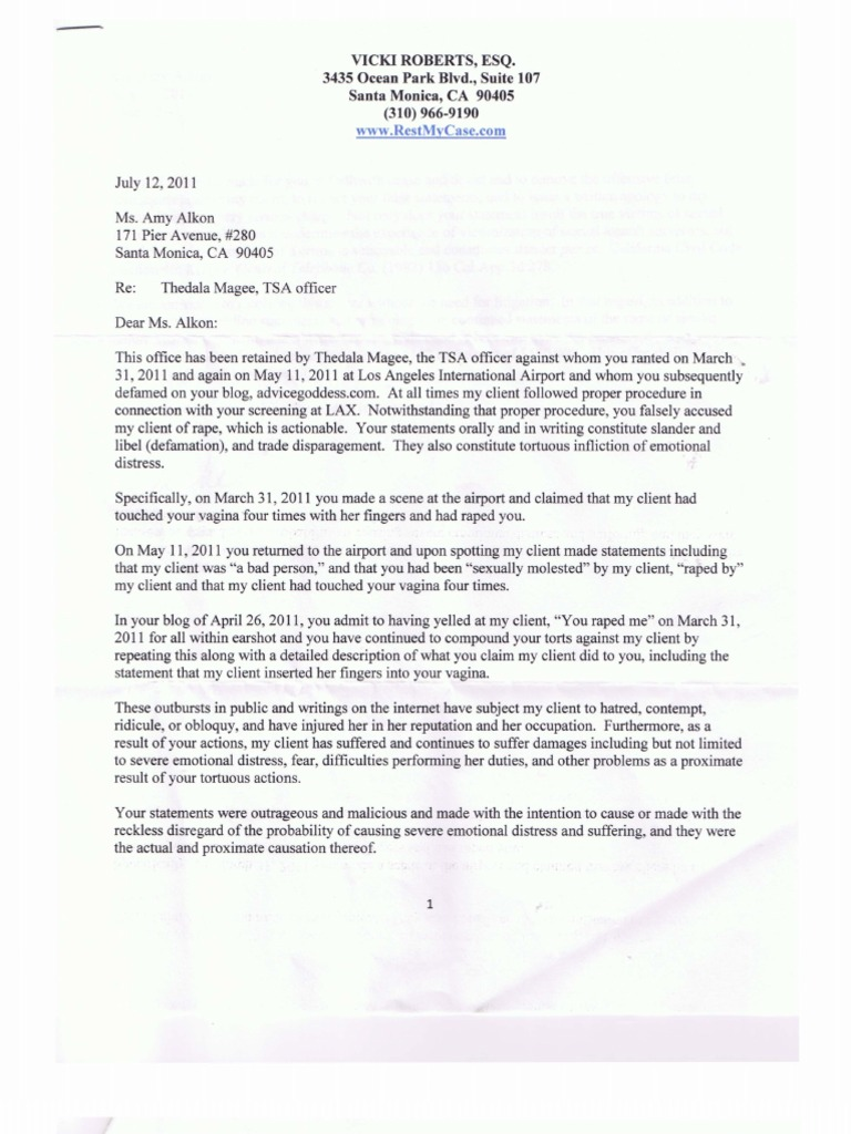 Thedala Magee Demand Letter DocSharetips – Demand Letters