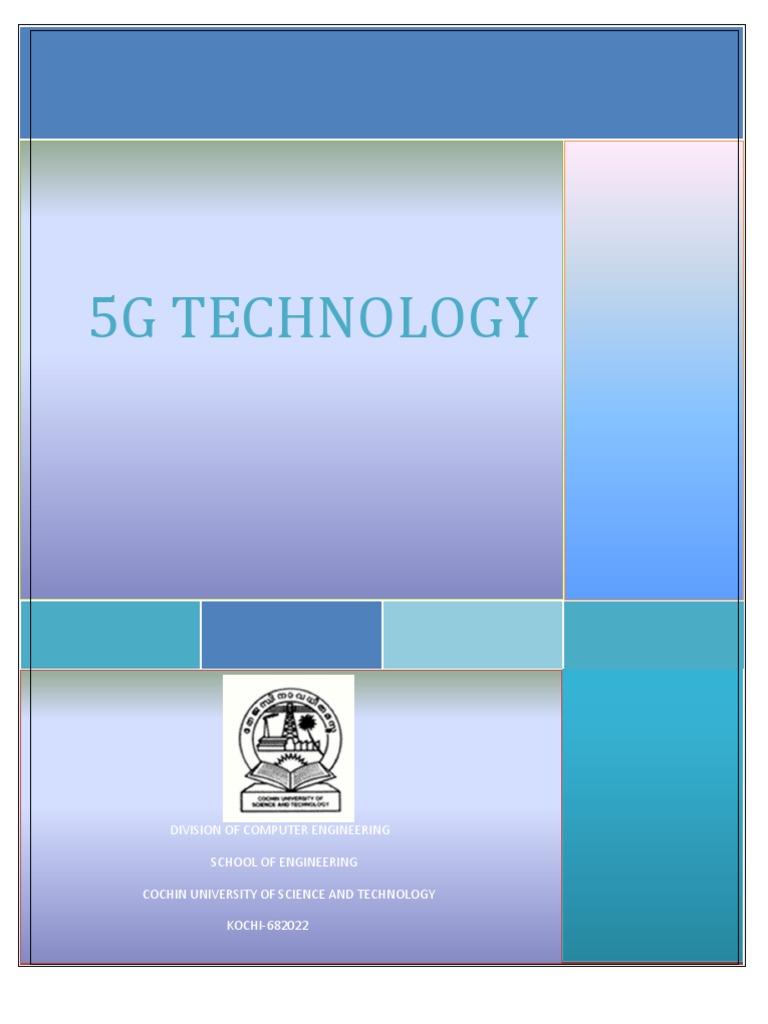 5g technology a seminar report