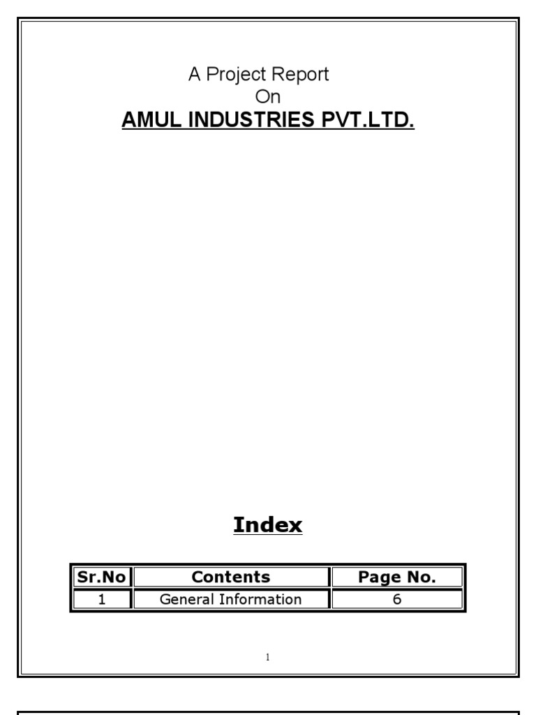 project report on amul Parekh has prepared detailed project report on whey based products for amul dairy anand in 2008 dr parekh has a member of export inspection agency (ministry of commerce) for assessment of milk processing plants in maharashtra for export of milk and milk products.