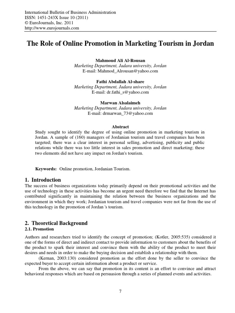 the role of promotion in marketing essay Small company promotions play many roles in marketing, designed to produce certain desired effects the methods used in achieving these effects may vary, depending on.