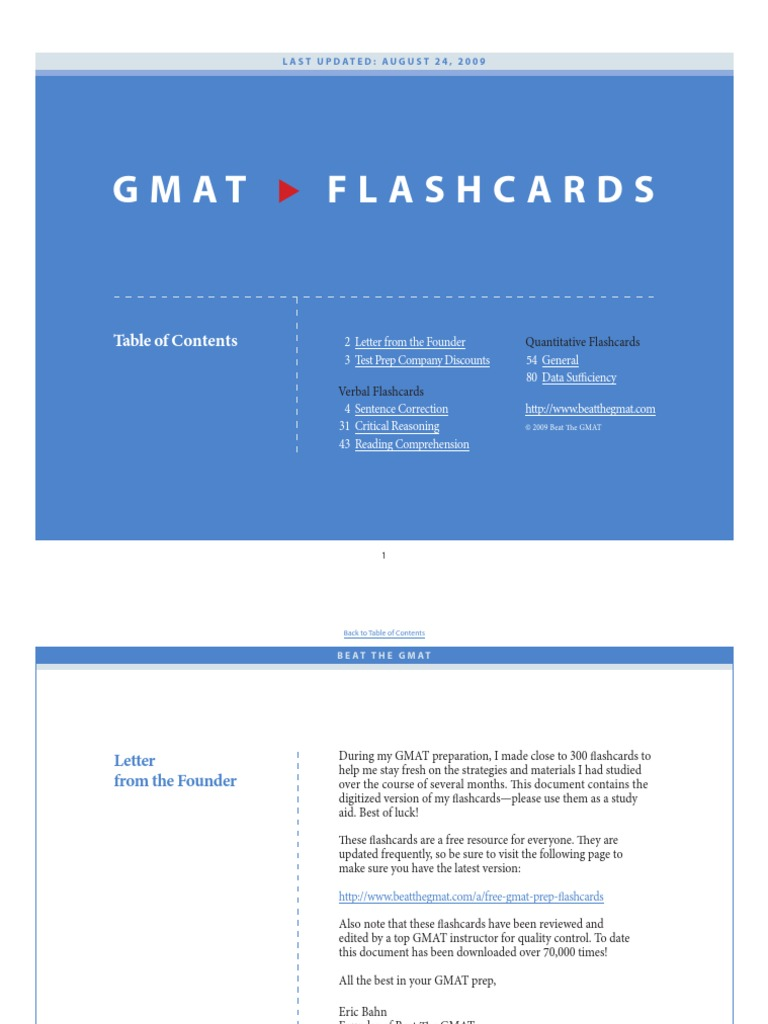 Download GMAT Flashcards - DocShare tips