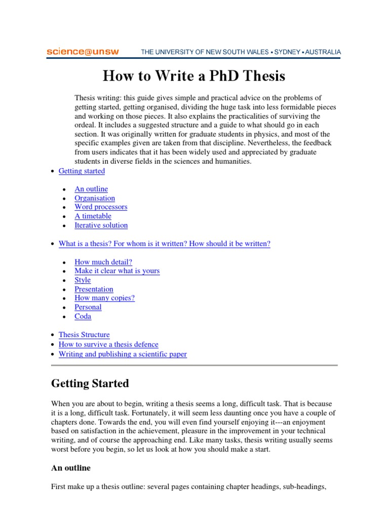 how do you reference a phd thesis I would say this depends on your bibliographic style and personal taste using biblatex and the default style, you can get (code below):  on the other hand, if i use @unpublished rather than @phdthesis, the output does not show anything about this work being a phd thesis any ideas.