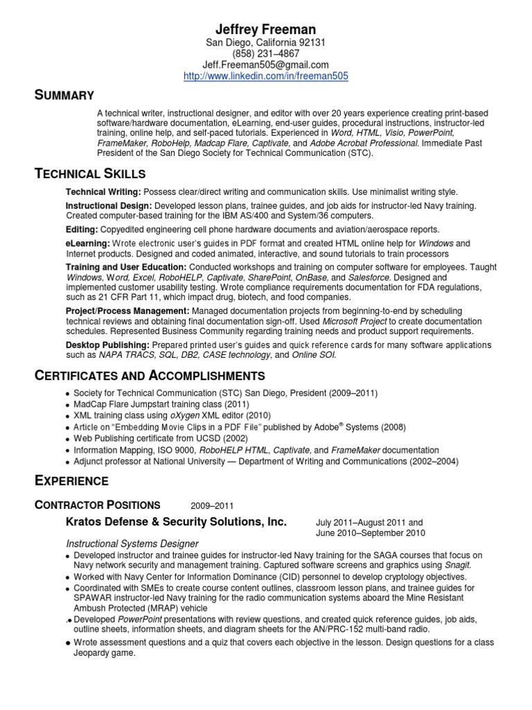Perfect Resume Class San Diego Ideas - Example Resume and Template ...
