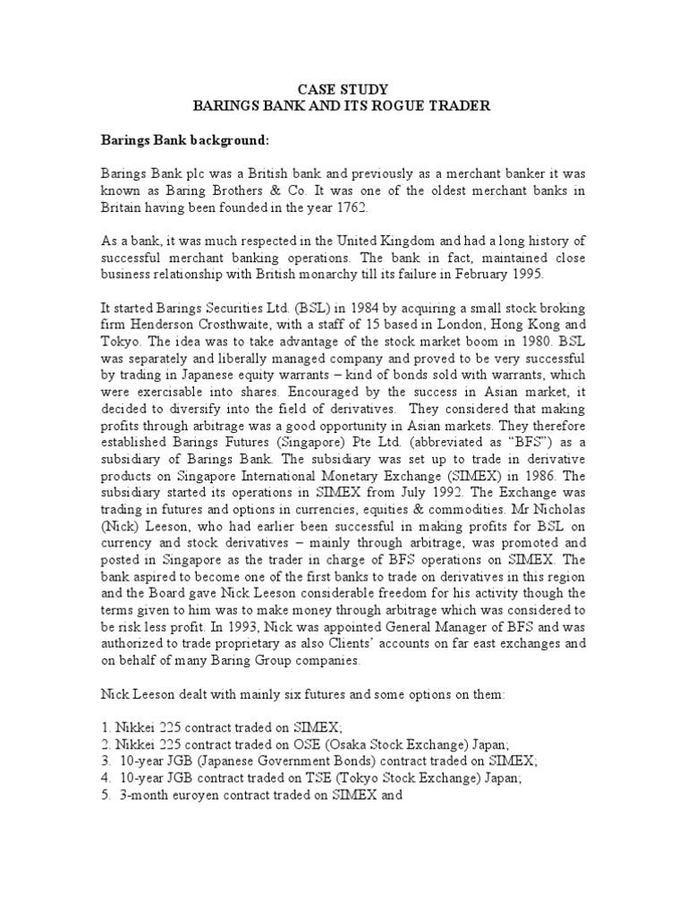 Rogue trader essay