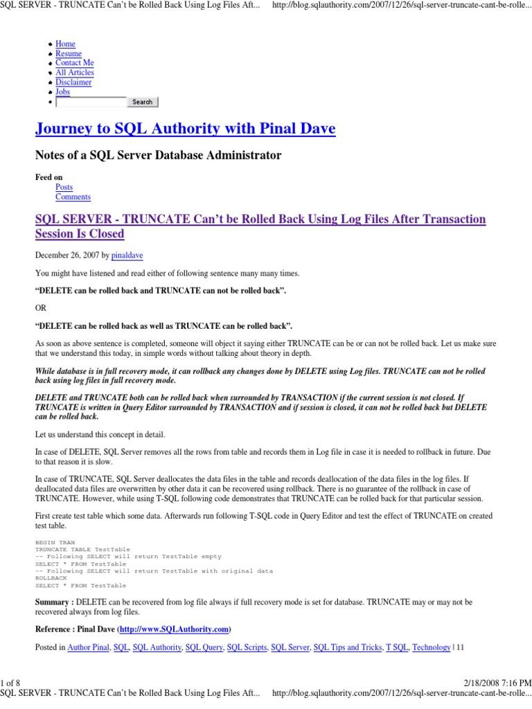 how to delete sql server