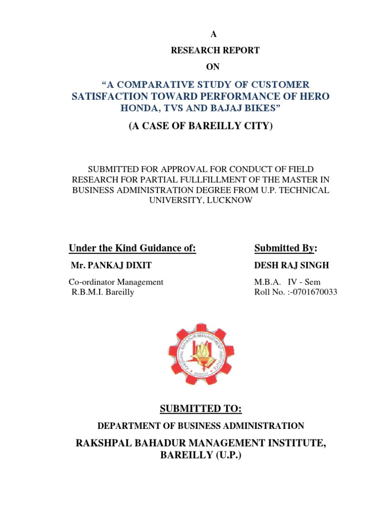 customer satisfaction level of bajaj bike users essay A project report on consumer satisfaction level of bajaj bike project report babasab patil a study of customer satisfaction on after sales and service conducted at arpi.