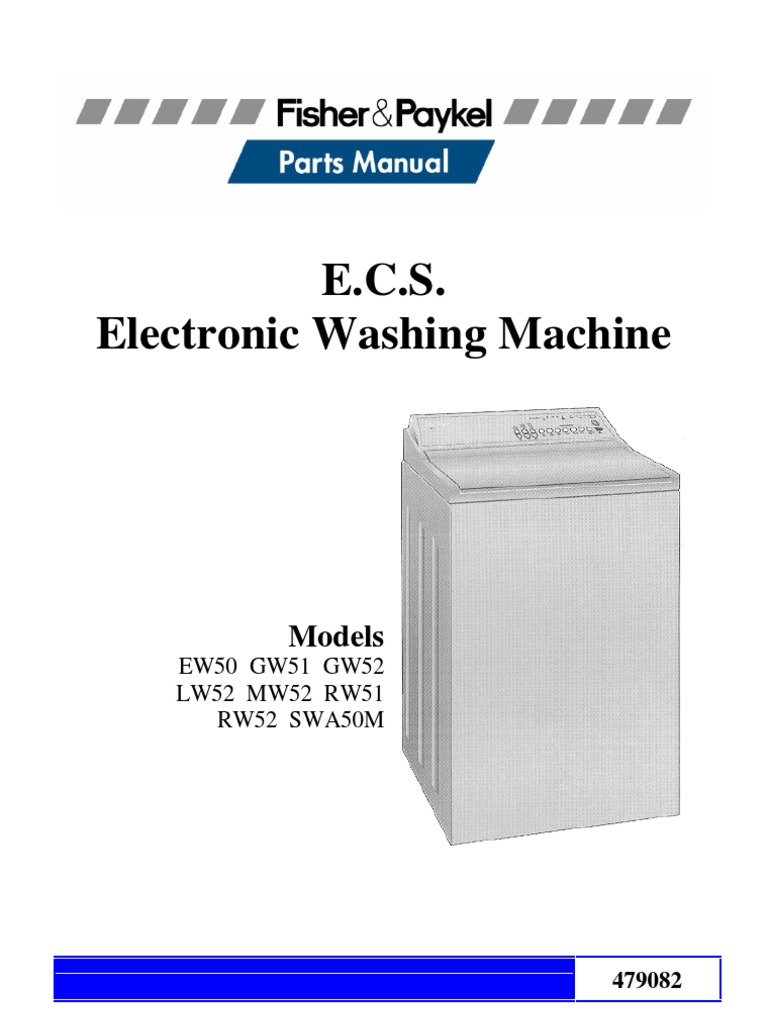 Parts Manual Fisher Paykell Gentle Annie Ecs Electronic Washing Aeg Machine Wiring Diagram