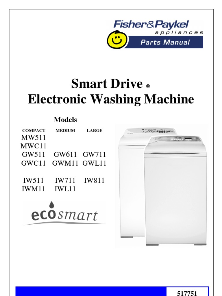 parts manual fisher paykell smart drive electronic washing rh docshare tips Fisher and Paykel Washer Diagram Fisher Paykel Washer Troubleshooting Guide