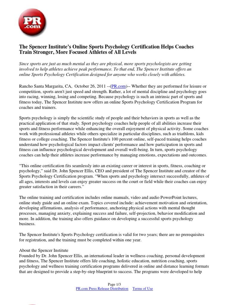 Download The Spencer Institutes Online Design Psychology Coach