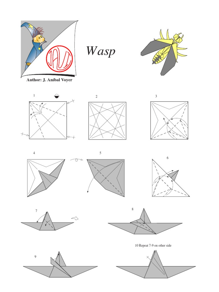 Origami Wasp Docshare Tips Rh Instructions Wasps Tutorial