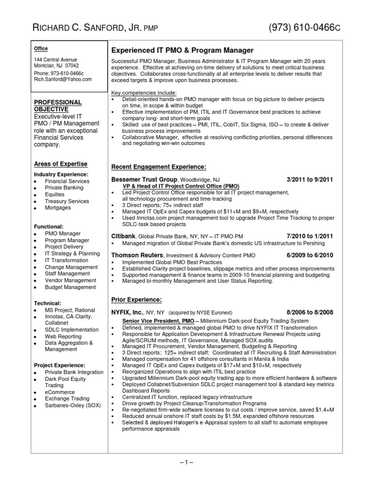 Spectacular Idea Resume For Office Manager 14 Manager Resume. Pmo .  Pmo Director Resume