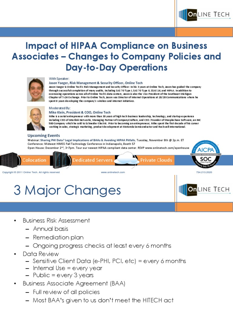 what areas of the jsbmha did hipaa compliance impact For guidance on the hipaa privacy rule in research, please see: compliance with these regulations overview of the privacy rule's impact on clinical research.