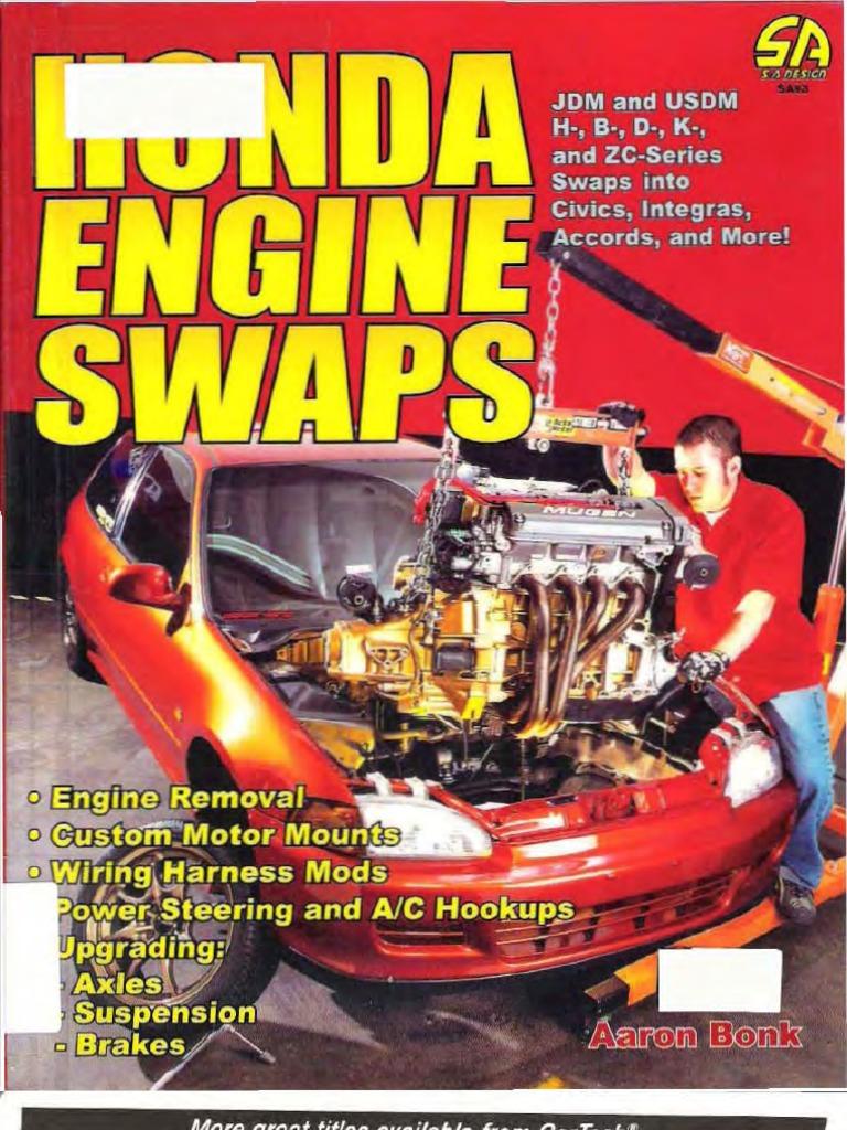 Download Honda Engine Swaps Book Wiring Harness Tips 1884089933