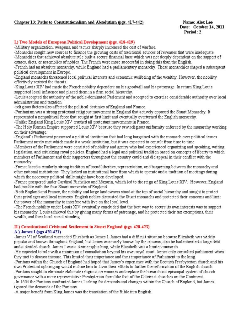 ap euro mchapter 26 outline Ap® european history academics  academic courses  social studies  ap® european history  chapter review outlines chapter 13 chapter 26 - the west and.