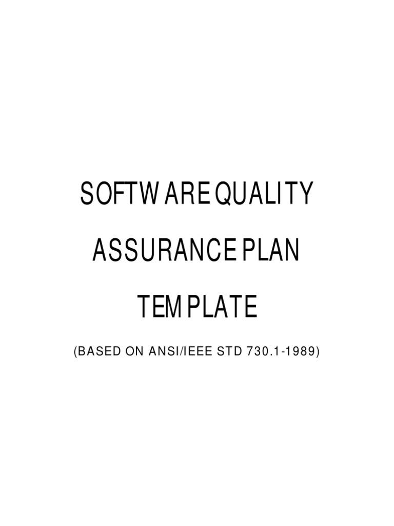 Quality Assurance Plan Template For Software Development. software ...
