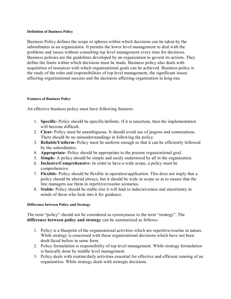 Download business conduct policy of apple docshare definition of business policy malvernweather Gallery