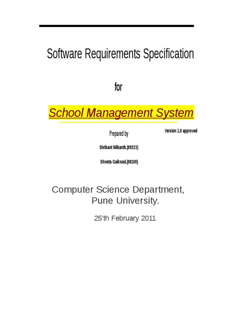Srs For School Management Software Docshare