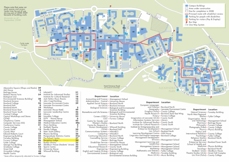 Lancaster University Campus Map Docshare Tips