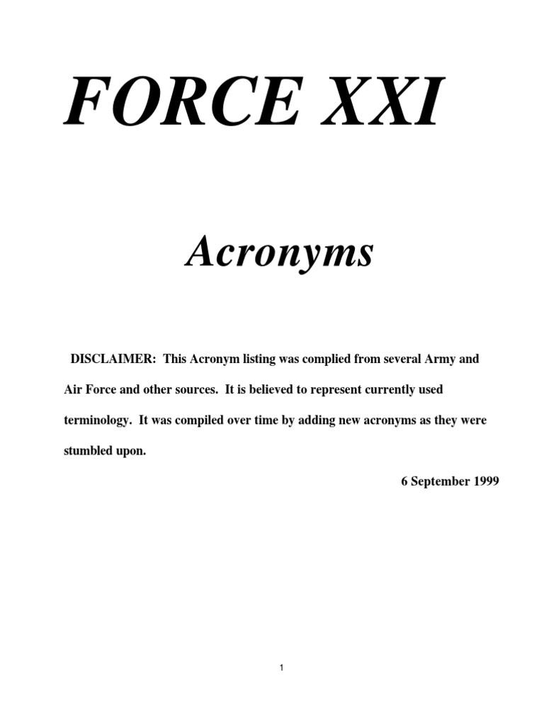 Army Acronym - DocShare tips