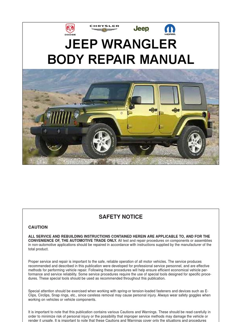 2008 jeep wrangler repair manual download 1987 2011 jeep. Black Bedroom Furniture Sets. Home Design Ideas