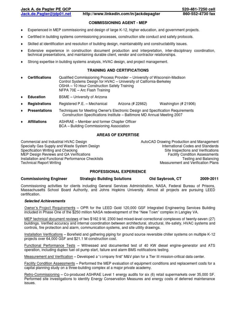 mechanical engineer sample resume mechanical commissioning engineer sample resume hvac commissioning engineer sample resume mechanical also - Fluid Mechanical Engineer Sample Resume