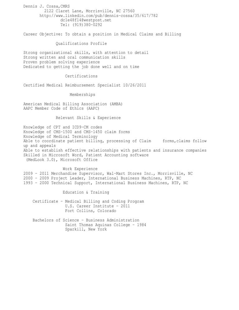 Download Medical Coder Resume Sample As Image File