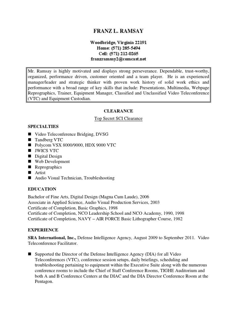 Vtc facilitator resume