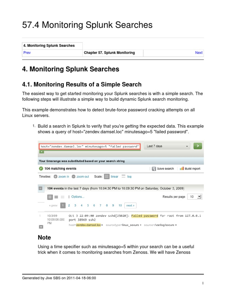 Monitor Splunk Searches - DocShare tips