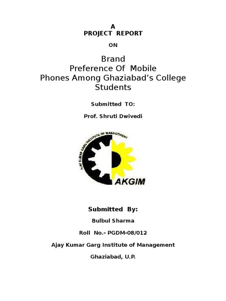 brand preference of mobile phone among