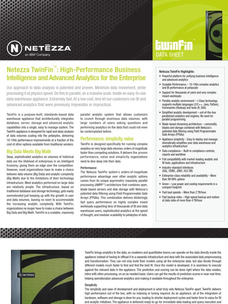 Ibm Netezza Twinfin Data Sheet - DocShare tips