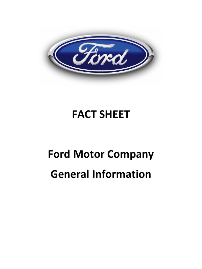financial analysis of ford motor company View essay - ford_motor_company_financial_ from acct 300 at md university college ford motor company: financial analysis kethan aggarwal ford motor company, inc: financial analysis ford motor.