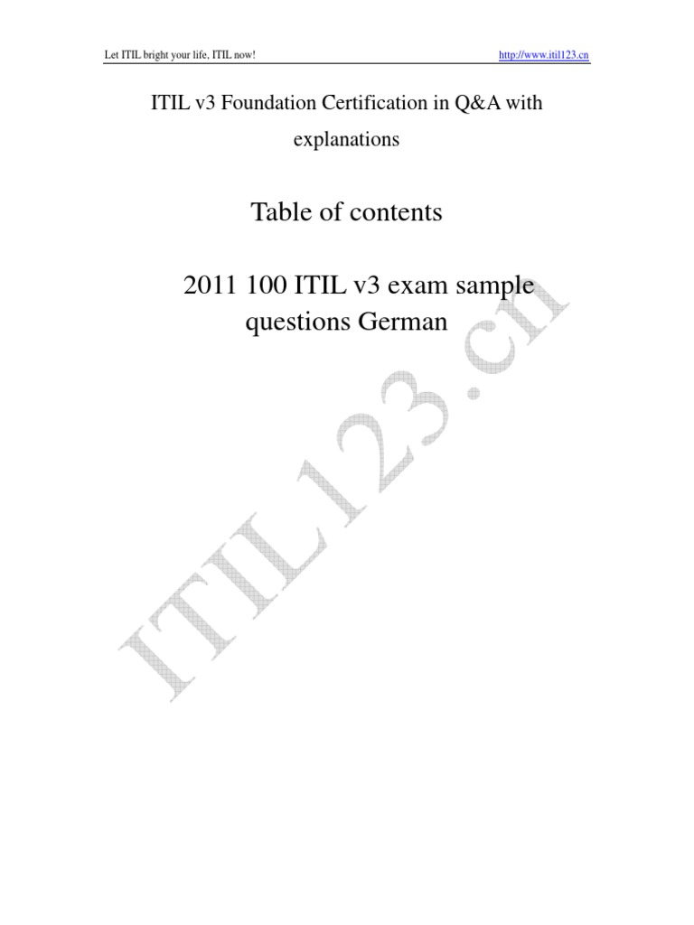 Download itil v3 foundation overviewpdf docshare 2011 itil v3 foundation 80 questions xflitez Choice Image