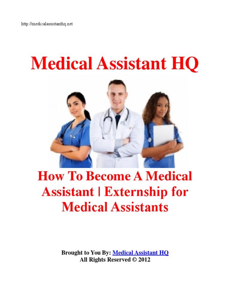 Medical assistant externship jobs