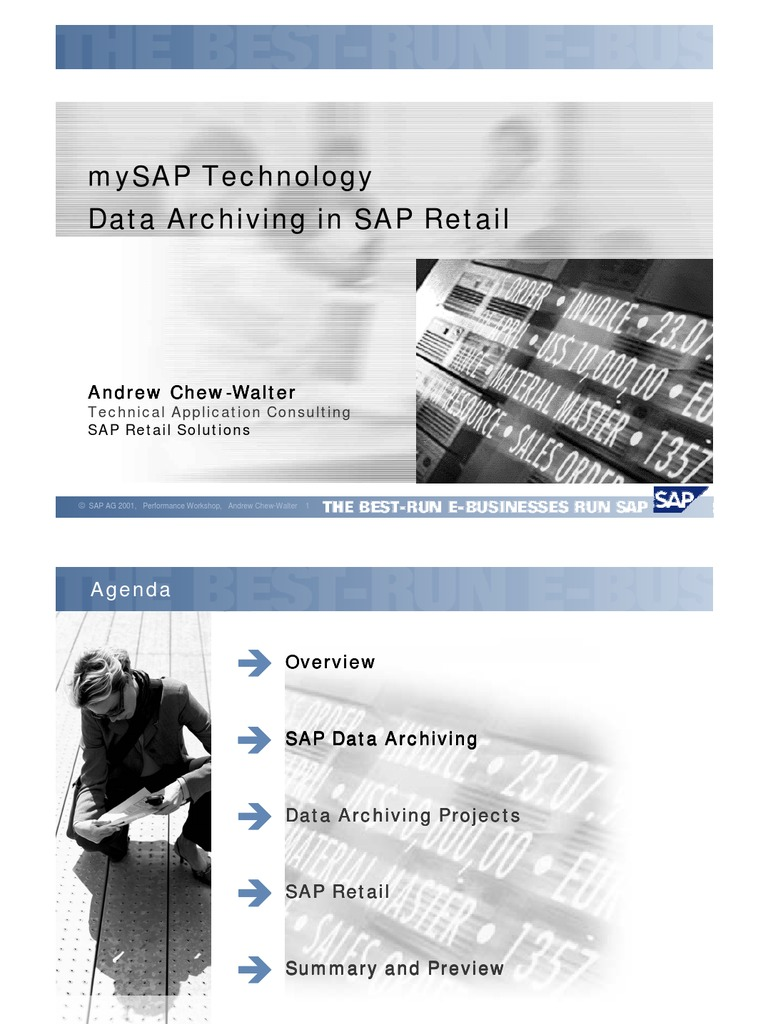 Data Archiving in Sap Retai - DocShare tips