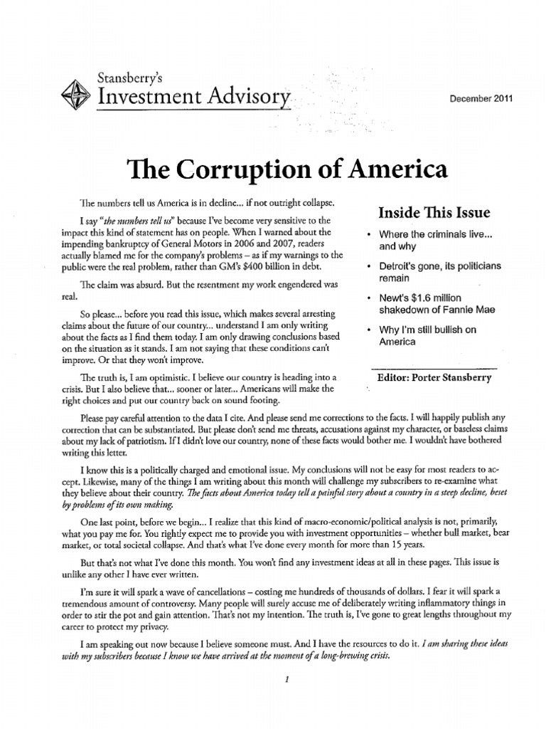 Write an essay on the effect of corruption on nigeria as a country