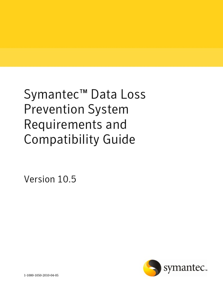 Symantec DLP 10.5 System Requirements Guide - DocShare.tips