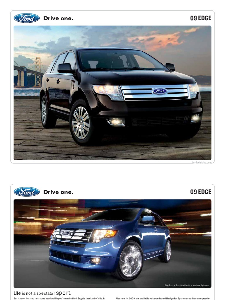 Ford Edge Brochure From Miller Ford