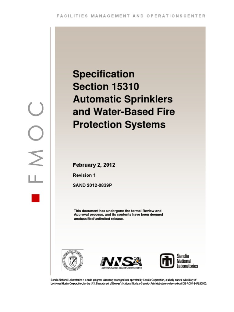 water based fire protection system essay