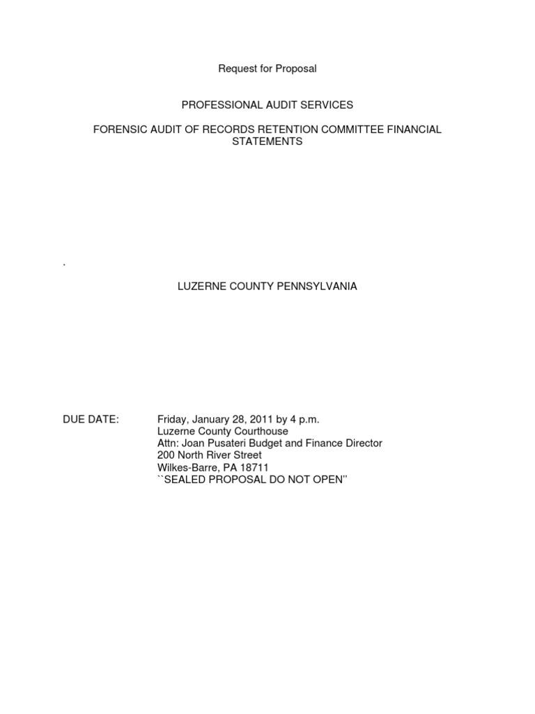 Download Outside Wonderland: RFP Forensic Audit Professional