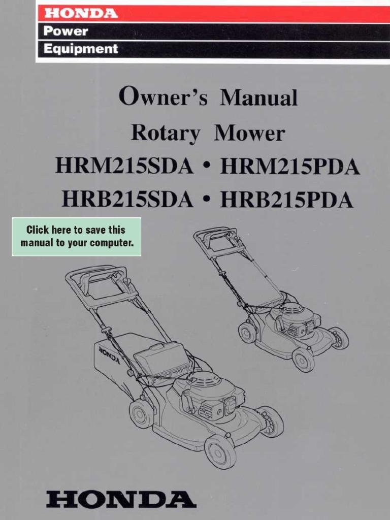 Honda Hru215 Mower Manual - Wasp Bee Removal Call 0423688352 Sydney