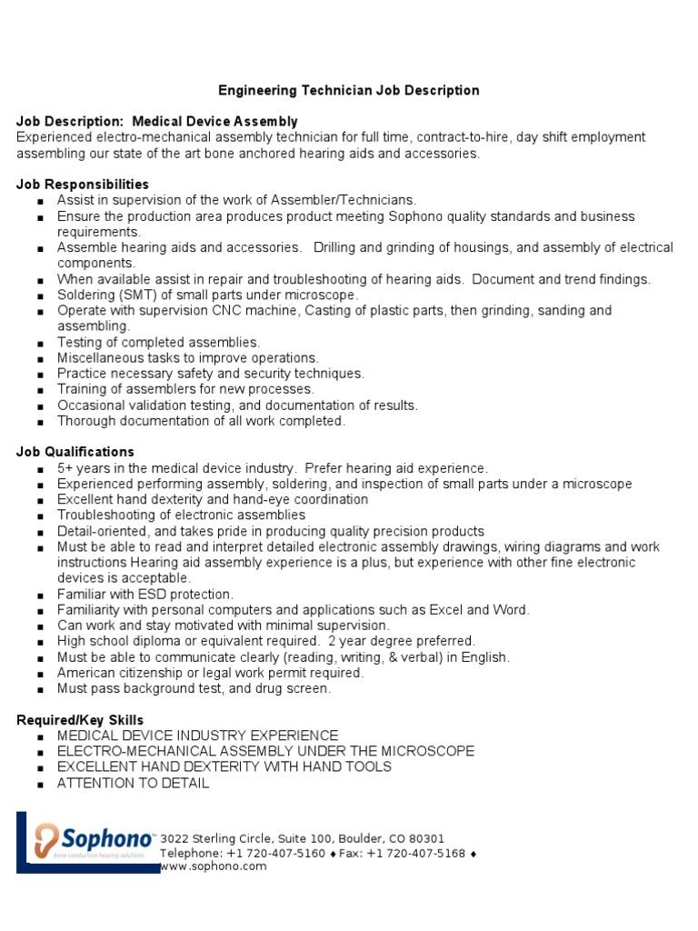 Download NDT Technician Job Description - DocShare.tips