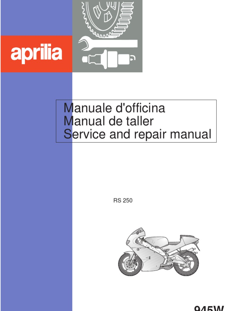 Aprilia RS250 Repair Manual 1998