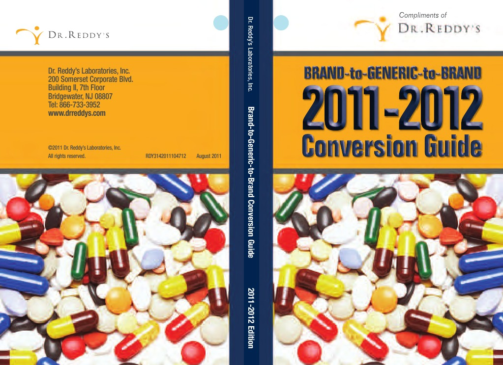 Dr Reddys Brand to Generic Book - DocShare tips