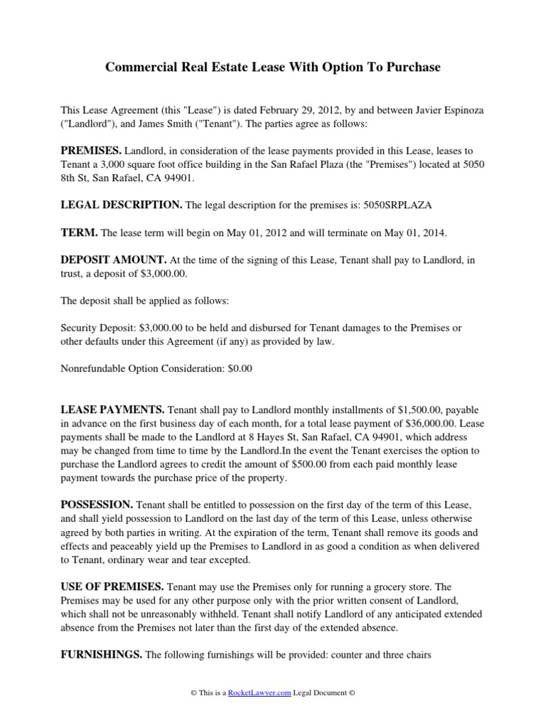 Real Estate Option Agreement Template Mandegarfo