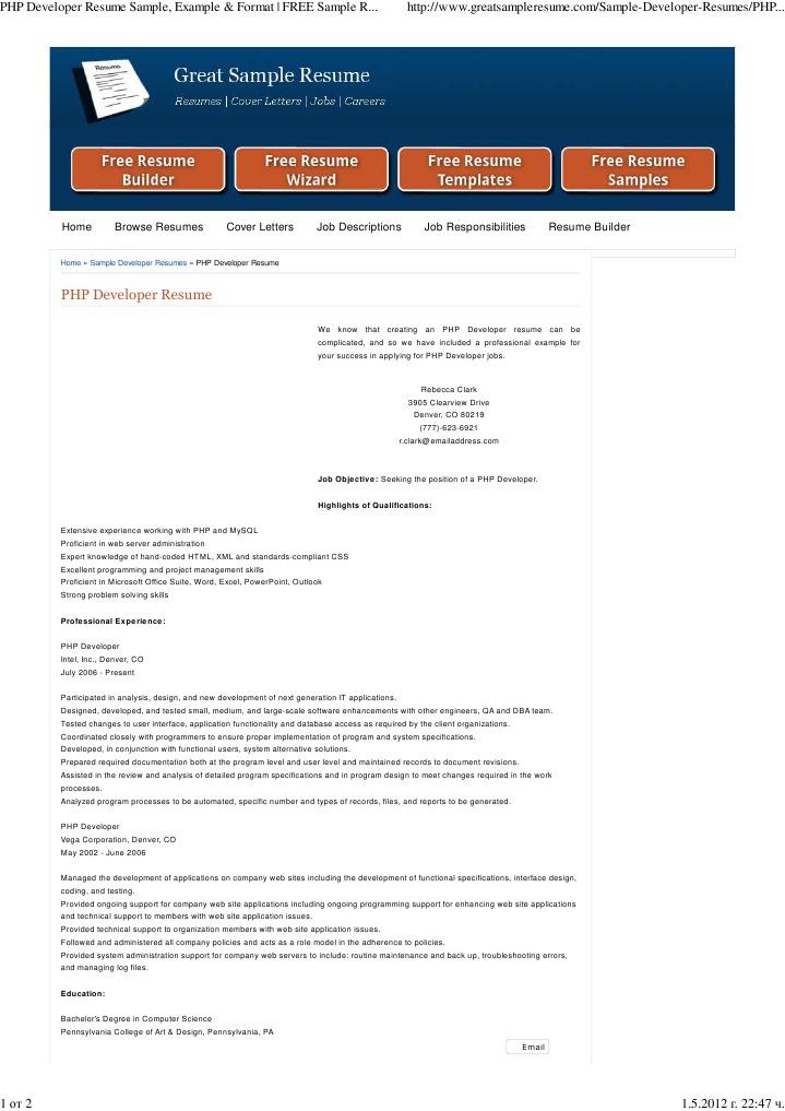 Download Sample Web Developer Resume - DocShare.tips