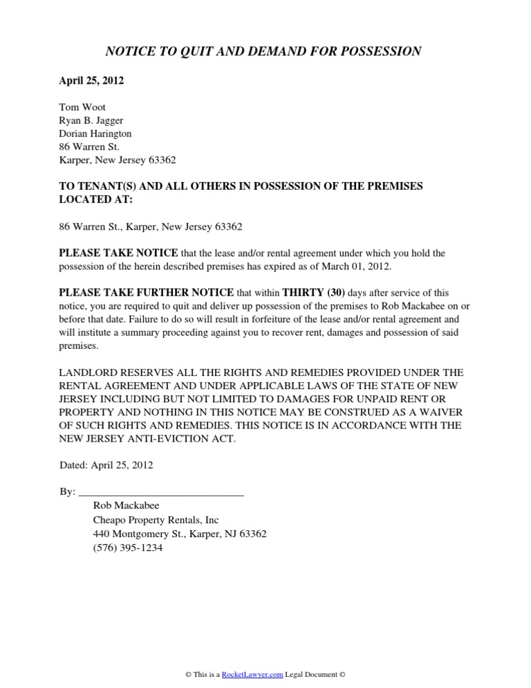 Download new jersey eviction notice docshare new jersey eviction notice altavistaventures Image collections