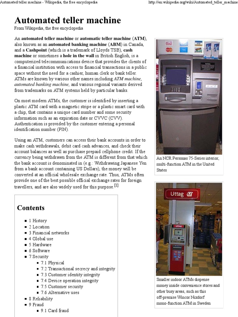 ATM Machine - DocShare tips