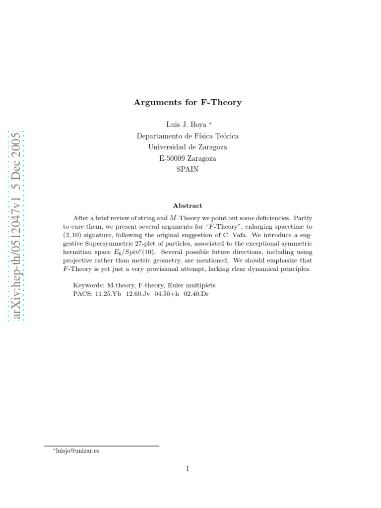Arguments For F Theory