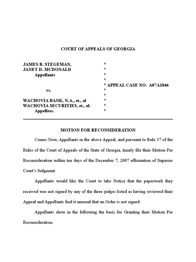 Motion for Reconsideration (GA Court of Appeals) - DocShare.tips